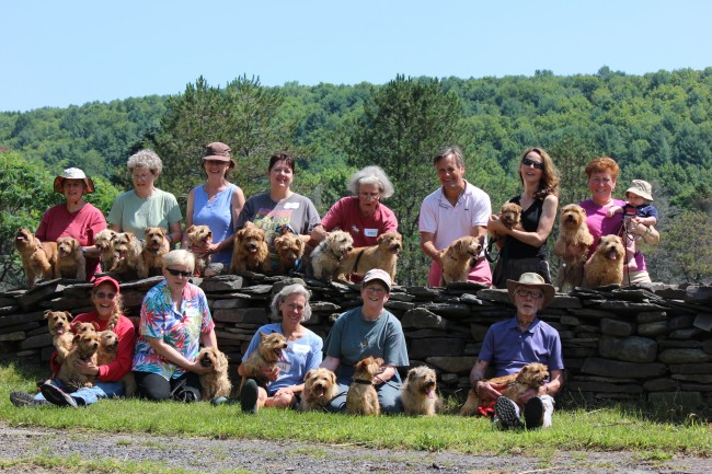 The ANTA crew at the Finger Lakes Earthdog Trials in July 2015